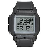 NIXON THE REGULUS 時代科技多功能電子腕錶-黑X白底
