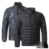 【THE NORTH FACE 美國】男 羽絨外套(充填物:鵝絨FP700)『黑』NF0A3KTF 保暖外套 雙面外套 印花外套