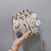 手機包2020夏秋棉麻手機包迷你斜背森繫小包女學生小布包可愛小清新[七月精品] 春季上新