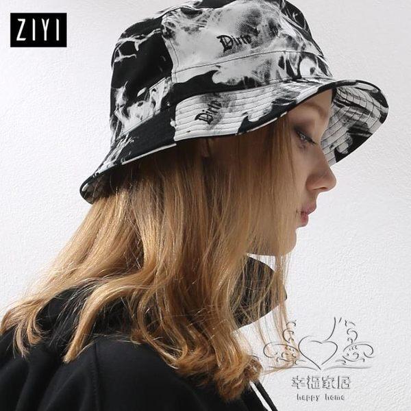 (百貨週年慶)正韓潮人帽子女 涂鴉字母日系街頭風漁夫帽  出游折疊帽