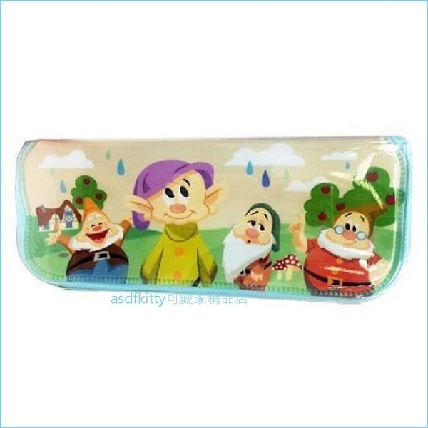 asdfkitty可愛家☆迪士尼七個小矮人與蘋果樹L號防水餐具袋/筆袋/收納袋-韓國製