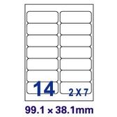 [奇奇文具]【裕德 Unistar 電腦標籤】US4678 電腦列印標籤紙/三用標籤/14格 99.1×38.1mm(100張/盒)