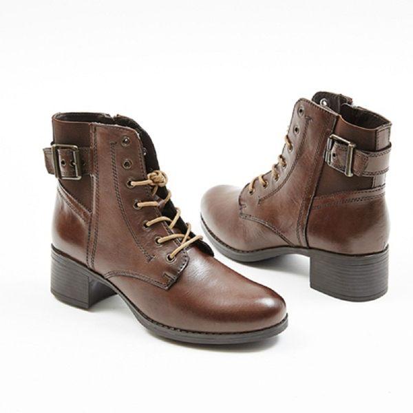★2017秋冬新品★kadia.真皮 時尚率性綁帶短靴(7702-70咖啡)