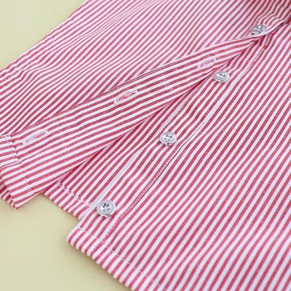 假領子假領片韓版平價法式內衣假衣領 紅條紋 罩衫洋裝襯衫針織大學T外套內搭[E1434]預購.朵曼堤