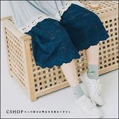 褲子  精緻簍空刺繡打摺褲裙.襯裙  三色-小C館日系