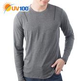 UV100 防曬 抗UV-彈性舒適針織上衣-男