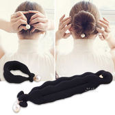 包包頭珍珠盤髮器 美髮 造型 新娘頭 盤髮器