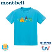 【Mont-Bell 日本 童 Wickron T恤 Banana Canoe 短袖排T《淺青藍》】1114361t恤/抗UV