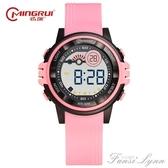 名瑞電子錶女學生夜光韓版簡約數字式手錶女防水可愛電子錶  范思蓮恩