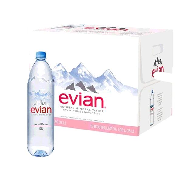 [COSCO代購] W117407 Evian 天然礦泉水 1250毫升 X 12瓶