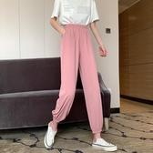 哈倫褲 夏季2020新款韓版寬鬆束腳休閒運動褲高腰垂感休閒燈籠哈倫褲女褲 嬡孕哺