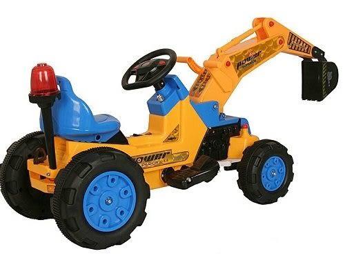 *粉粉寶貝玩具*親親電動挖土機~超大型腳踏工程車~可騎乘電動童車~附警燈~可外接MP3喔~