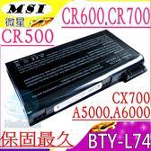MSI BTY-L74 電池(保固最久)-微星 BTY-L74,BTY-L75,CR500,CR600,CR610,CR700,GE700,MS-1681,MS-1682,MS-1683
