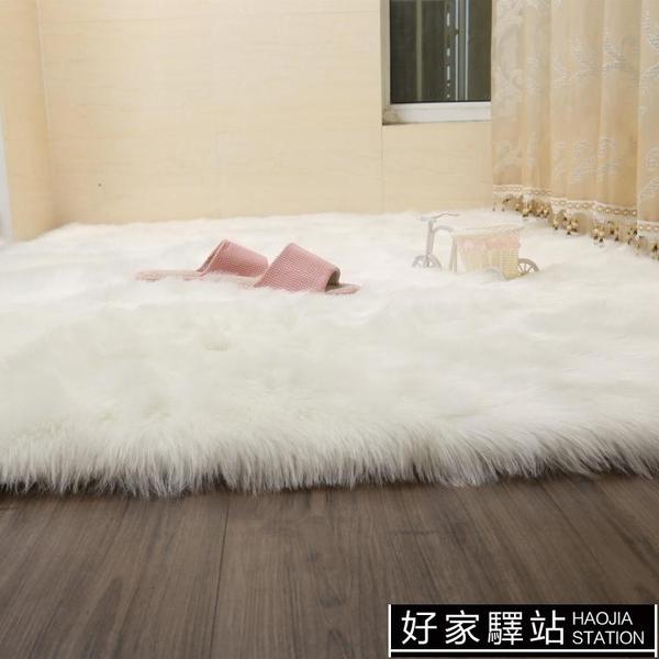 現代簡約長毛絨地毯臥室床邊地墊滿鋪客廳茶幾墊仿羊毛櫥窗裝飾