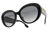 BURBERRY偏光太陽眼鏡 B4298F 3001T3 (黑-漸層藍鏡片) 奢華典雅款 # 金橘眼鏡