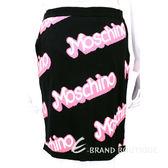 MOSCHINO 黑色字母塗鴉針織包裙 1510105-01