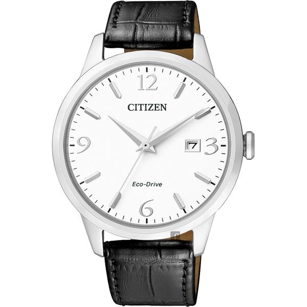 CITIZEN 星辰 光動能紳士手錶-白x黑/40mm BM7300-09A