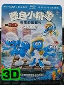 挖寶二手片-0Q01-232-正版藍光BD【藍色小精靈:失落的藍藍村 3D+2D雙碟版 附外紙盒】-卡通動畫(直