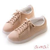 amai《隨時都想長高》可拆式內增高純色休閒鞋 粉