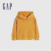 Gap男幼童 活力亮色連帽休閒上衣 661675-金黃色