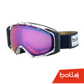 法國 Bolle GRAVITY 經典球形鏡片外型 防霧雪鏡 亞洲版 白藍/極光 #21456