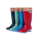 雨鞋女雨鞋女高筒雨靴長筒水靴水鞋加絨防滑膠鞋套鞋時尚冬雨鞋中筒