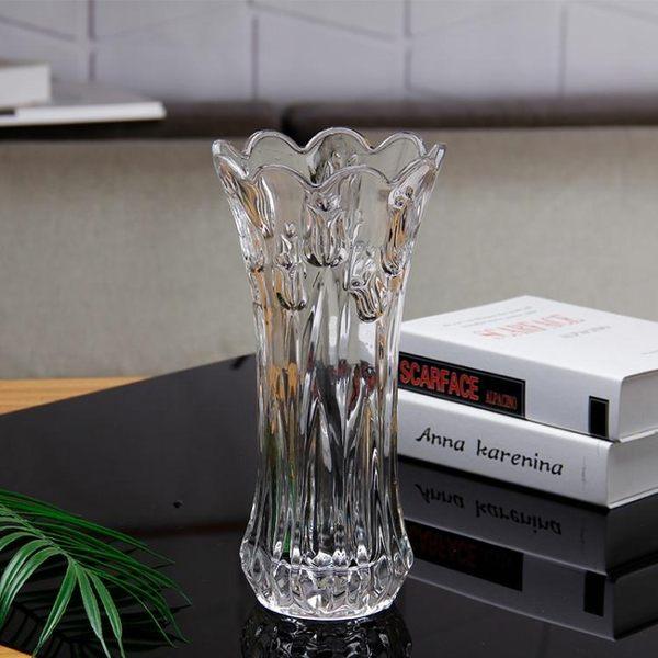 歐式玻璃花瓶富貴竹鮮花幹花水培簡約現代透明客廳落地擺件 樂活生活館