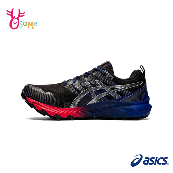 ASICS越野跑鞋 男鞋 GEL-TRABUCO 9 G-TX 防水 支撐跑鞋 亞瑟膠 慢跑鞋 運動鞋 亞瑟士 C9188#紅藍