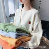 長袖針織衫 新款時尚寬松外穿慵懶加厚毛衣女日系秋冬配大衣的內搭針織衫 新年禮物
