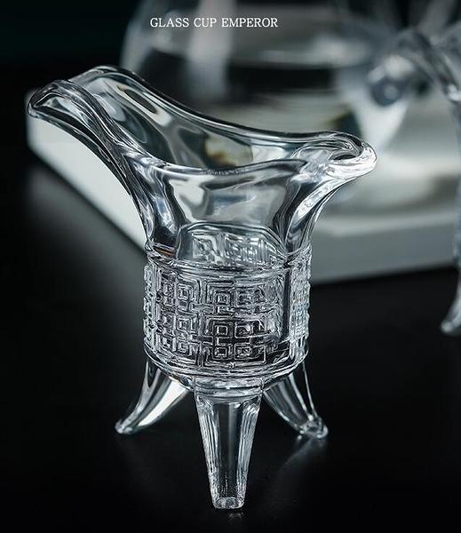 爵杯小酒杯一口杯中式帝王杯家用仿古創意小號玻璃烈酒白酒杯套裝 - 風尚3C
