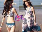得來福,C454泳衣中國風長裙三件式泳衣游泳衣泳裝比基尼,售價1200元