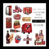 A4可樂瓶易拉罐個性貼紙拉桿箱旅行箱行李箱貼筆記本防水貼畫【韓衣舎】