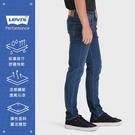 Levis 男款 上寬下窄 / 512低腰修身窄管牛仔褲 / Cool Jeans 輕彈有型 / 深藍微刷白