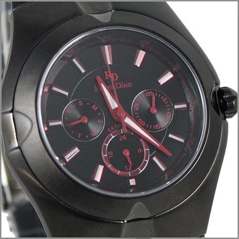 【萬年鐘錶】 Roven Dino 羅梵迪諾 楊丞琳代言 全黑紅字男錶 RD9801B