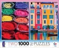 【KANGA GAMES】拼圖 二合一拼圖 - 彩色顏料 / 運河 2in1 Multi-Pack - Pigment/Canal  2款各1000片