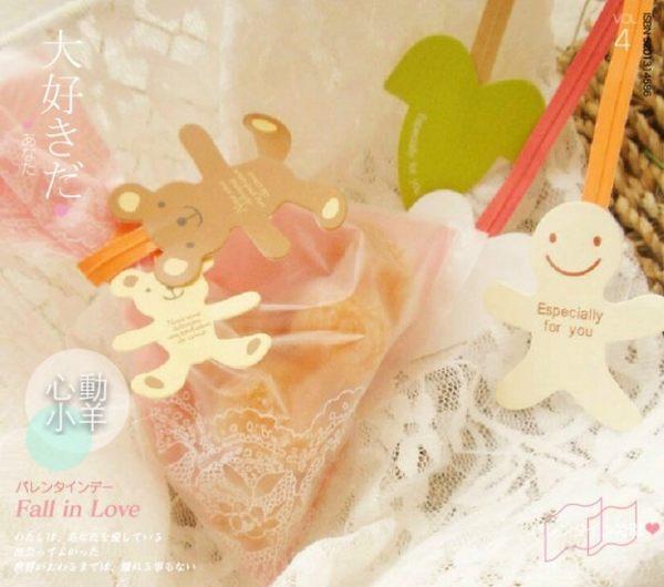 心動小羊^^可愛小熊封口鐵絲,綁糖果袋、束口袋