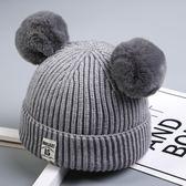 寶寶毛線帽子針織秋冬季兒童加絨女童嬰兒男童女孩韓版潮
