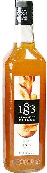 1883水果糖漿-頂級純天然果露糖漿-【水蜜桃】1000ml