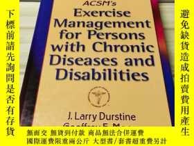 二手書博民逛書店ACSMs罕見Exercise Management for P