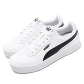 Puma 休閒鞋 Carina PFS Wns 白 黑 基本款 女鞋 【PUMP306】 37121202