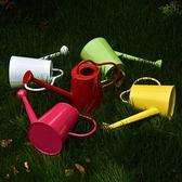 家用花園陽台園藝鐵制彩色澆花壺灑水壺活動噴頭兩用淋花壺澆水壺 時尚芭莎