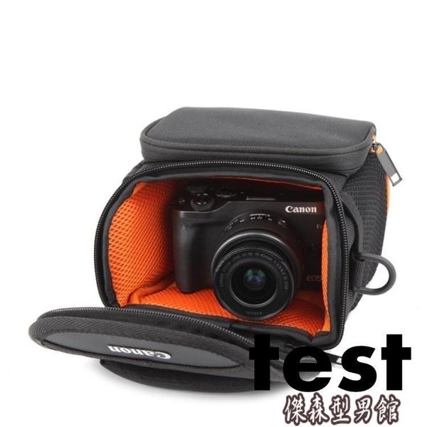 相機收納包 canon佳能EOS-M5 M50 M100 M10M6單電微單防水側背攝影收納相機包 傑森型男館