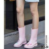防水鞋套鞋雨靴中筒水鞋膠鞋雨鞋女