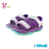 TEVA童鞋 寶寶鞋 女童涼鞋 機能涼鞋 PSYCLONE XLT 運動涼鞋 兒童涼鞋 魔鬼氈涼鞋 J6689#紫色
