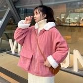 保暖短款冬季可愛羽絨棉服 女士外套韓版外套羽絨外套 棉服夾克外套加絨 加厚女外套女生外套