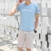 夏季短袖t恤男士套裝新款休閒運動潮牌男裝一套搭配帥氣夏裝 QQ30220『東京衣社』