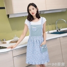 新款韓版時尚居家成人女士可愛圍裙廚房做飯防油防污雙層工作服【帝一3C旗艦】