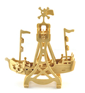 【收藏天地】童玩世界*木製海盜船DIY體驗包 / 文創 玩具