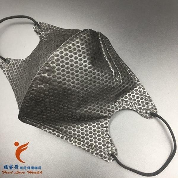 【南紡購物中心】黑色3D立體鼻壓條口罩 10入/袋x5袋(限量供應)