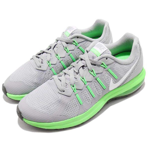 【六折特賣】Nike 慢跑鞋 Air Max Dynasty GS 灰 綠 氣墊設計 運動鞋 女鞋 大童鞋 【PUMP306】 820268-003